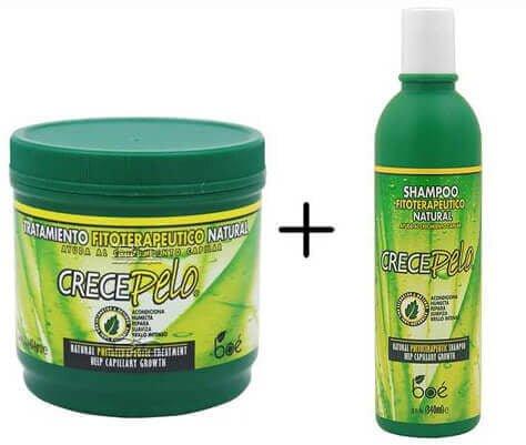 Crece Pelo Kit Shampoo + Mascara de Hidratação
