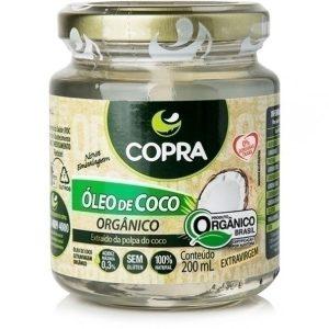 Óleo de Coco Orgânico 200ml Extra Virgem Copra 100%